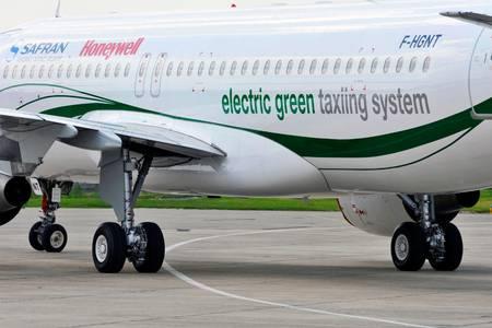 Een elektrisch aangedreven landingsgestel.