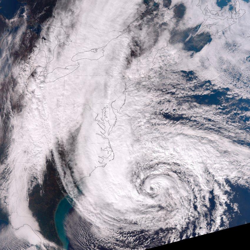 De orkaan Sandy in oktober 2012.