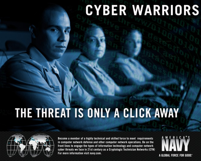 Amerika ronselt krakers voor weboorlog